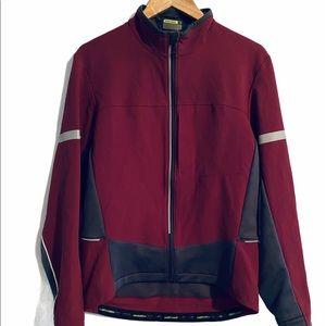 Novara Mens Burgundy/Gray Full Zip Cycling Jacket
